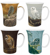 Load image into Gallery viewer, Bateman Owls Set of 4 Mugs