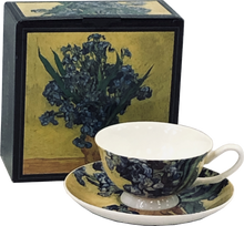 Load image into Gallery viewer, Van Gogh Irises Cup & Saucer