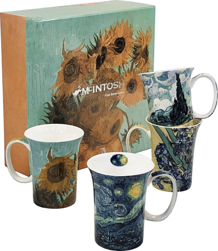 Van Gogh set of 4 Mugs