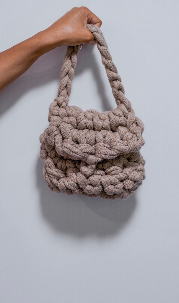 TAUPE MINI BAG.