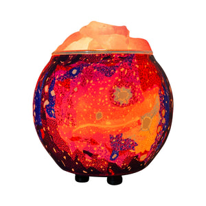 Himalayan CrystalLitez Aromatherapy Salt Lamp with UL Listed Dimmer Cord, Handcrafted Artisan Made  (Galaxy)