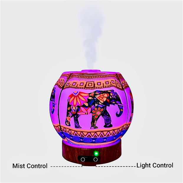 EssentialLitez Handcrafted Ultrasonic Essential Oil Diffusers (Ethnic Elephant) 1