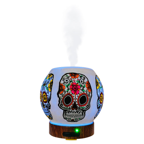 EssentialLitez Handcrafted Ultrasonic Essential Oil Diffusers (Sugar Skull)