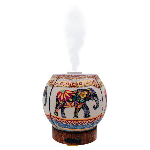 elephant essential oil diffuser for aromatherapy mister handmade boho decor gift color changing