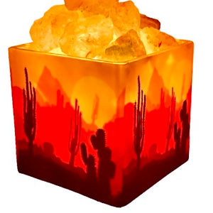 Himalayan CrystalLitez Aromatherapy Salt Lamp with UL Listed  Dimmer Cord ,Handcrafted Artisan Made (Southwestern)