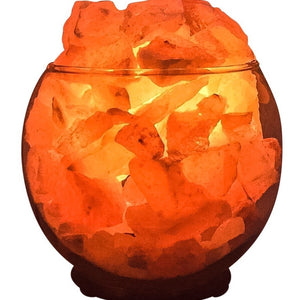 Himalayan CrystalLitez Aromatherapy Salt Lamp with UL Listed Dimmer Cord (Clear Sphere)