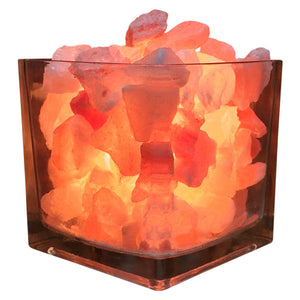 Himalayan CrystalLitez Aromatherapy Salt Lamp with UL Listed Dimmer Cord (Square)