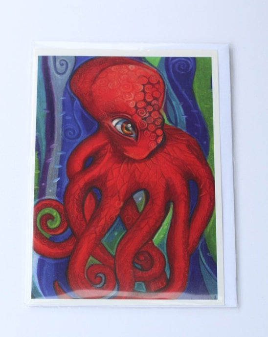 RED OCTOPUS CARD