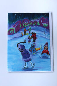 ICE SKATING ON THE LAGOON CARD