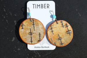DARK BIRCH EARRINGS