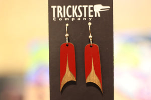 RED U-SHAPE EARRINGS