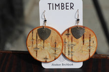SILVER AND BIRCH EARRINGS