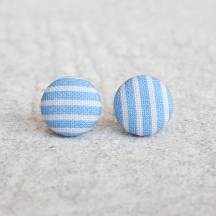 BLUE GINGHAM STUDS