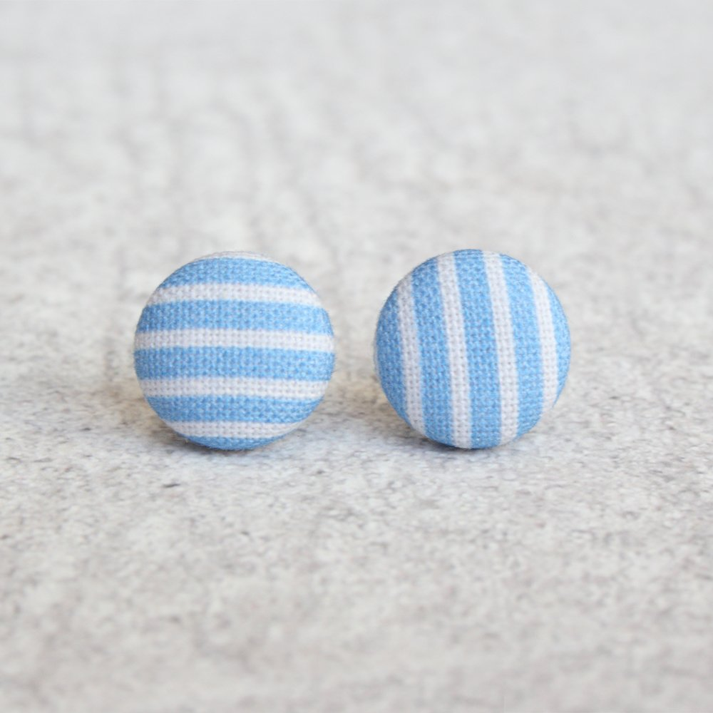 BLUE STRIPE STUDS