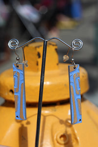 BLUE RAVEN EARRINGS