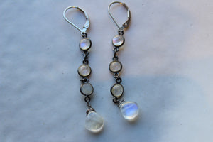 MOONSTONE CHAIN EARRINGS