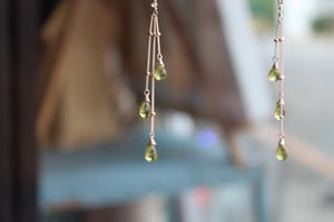 GREEN SATELLITE EARRINGS