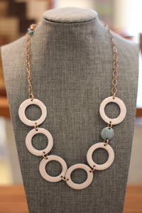 PINK CIRCLE NECKLACE