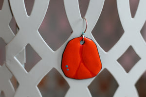 DARK ORANGE EARRINGS