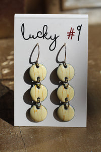 CREAM CHAIN EARRINGS