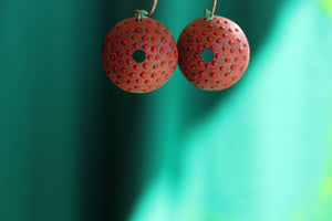 RED DOME EARRINGS