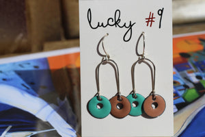 TWO COLORED CIRCLE EARRINGS