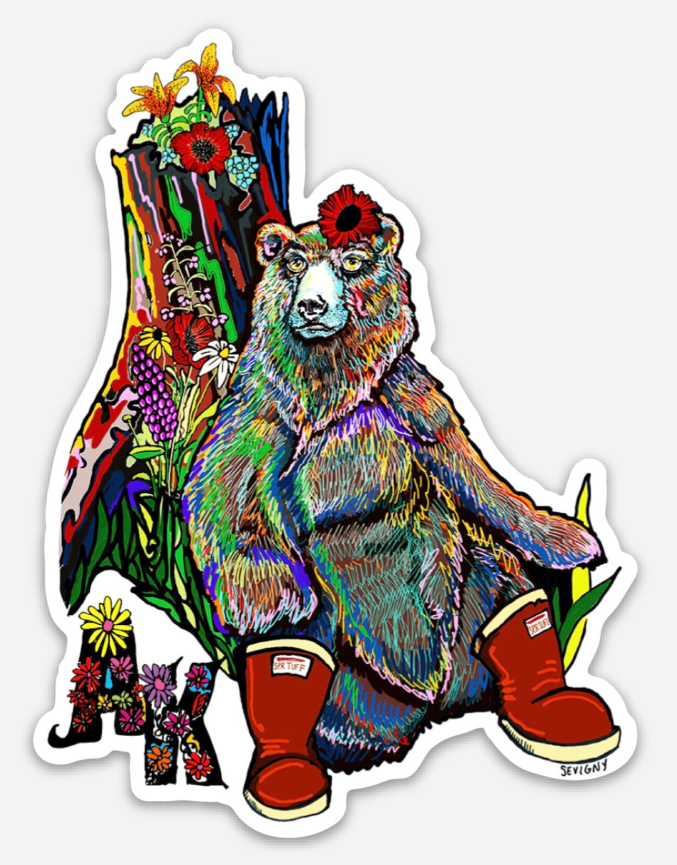 BEAR IN BOOTS STICKER