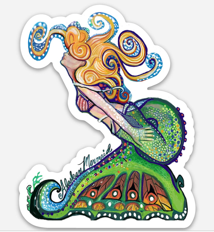 BLONDE MERMAID STICKER
