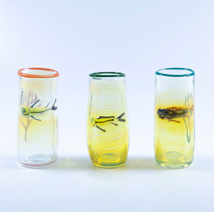 OT HANDBLOWN SHOT GLASSES