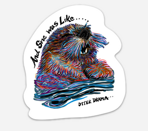 OTTER DRAMA STICKER