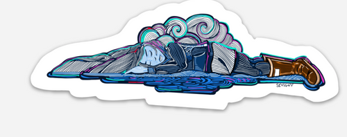 SLEEPING LADY BOOTS STICKER
