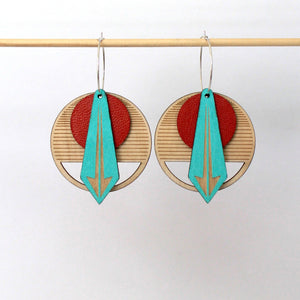 RED ARROW WOOD EARRINGS