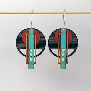 ARCHITECTURAL BIRCH RED EARRING