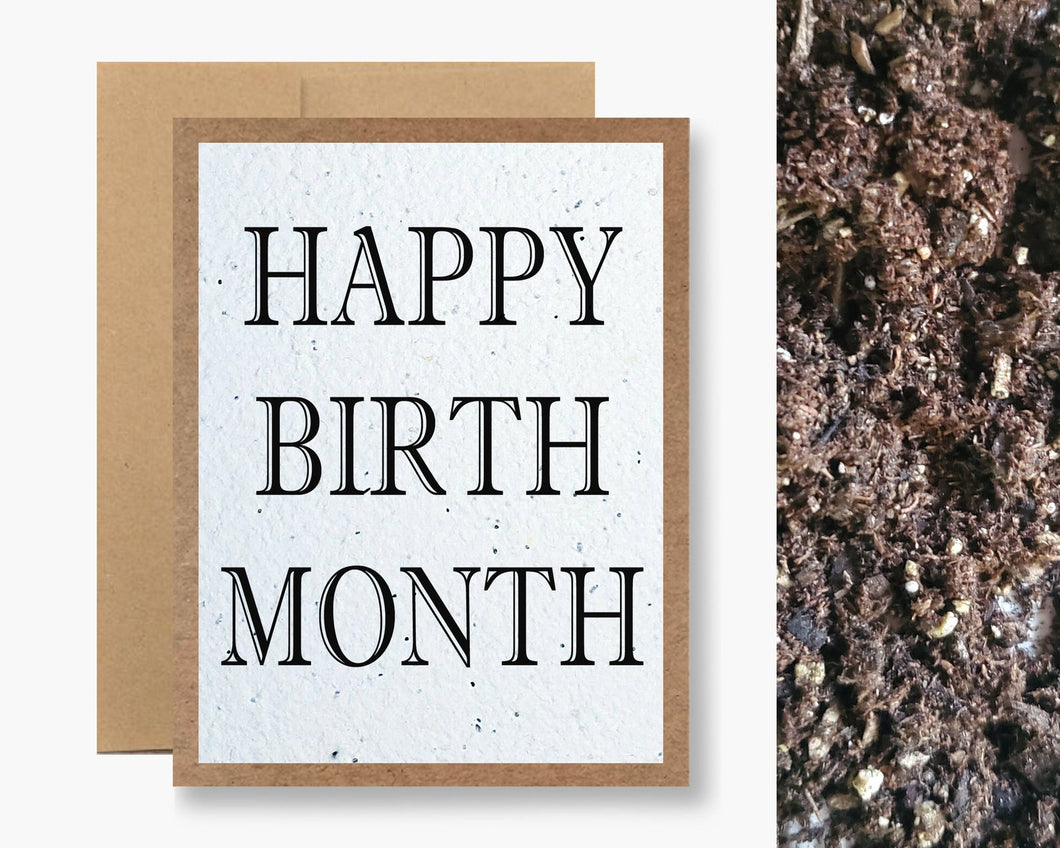 HAPPY BIRTH MONTH CARD