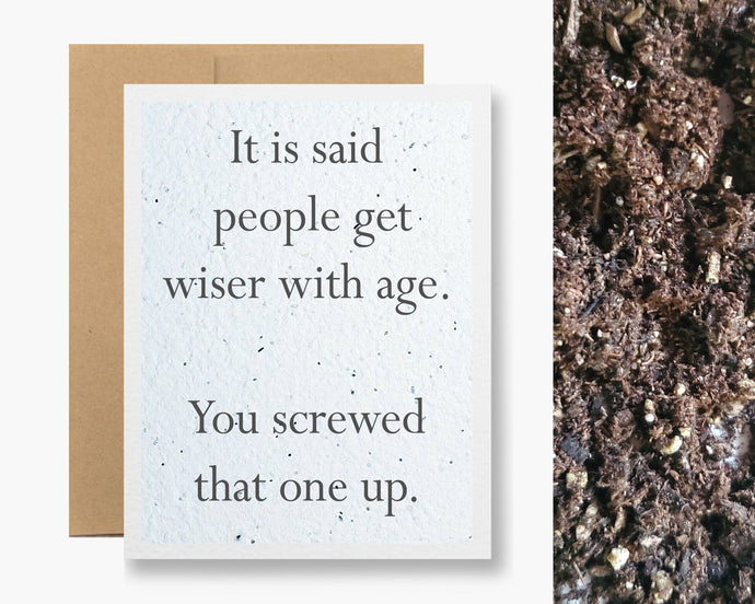 PEOPLE GET WISER WITH AGE CARD