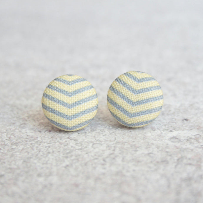 YELLOW AND GREY SRIPEY STUDS