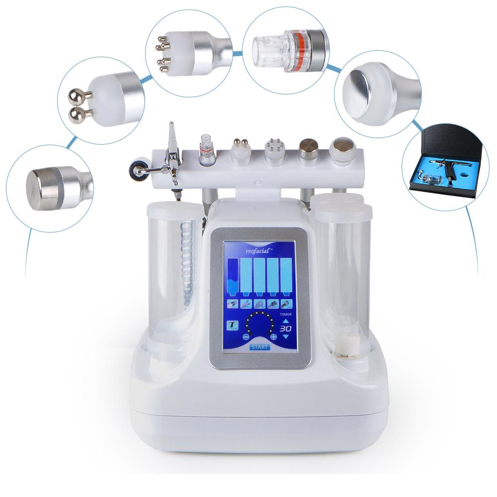 Multifunctional LED Hydro Microdermabrasion Ultrasonic RF Radio Frequency Oxygen Spray Deep Cleansing Facial Machine