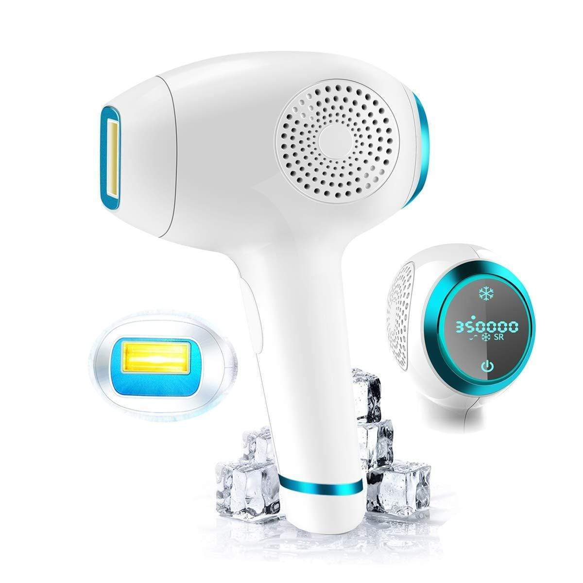 Permanent 3 in 1 IPL 350,000 Flashes Hair Removal ICE Cold Device FIRST CLASS CREW White