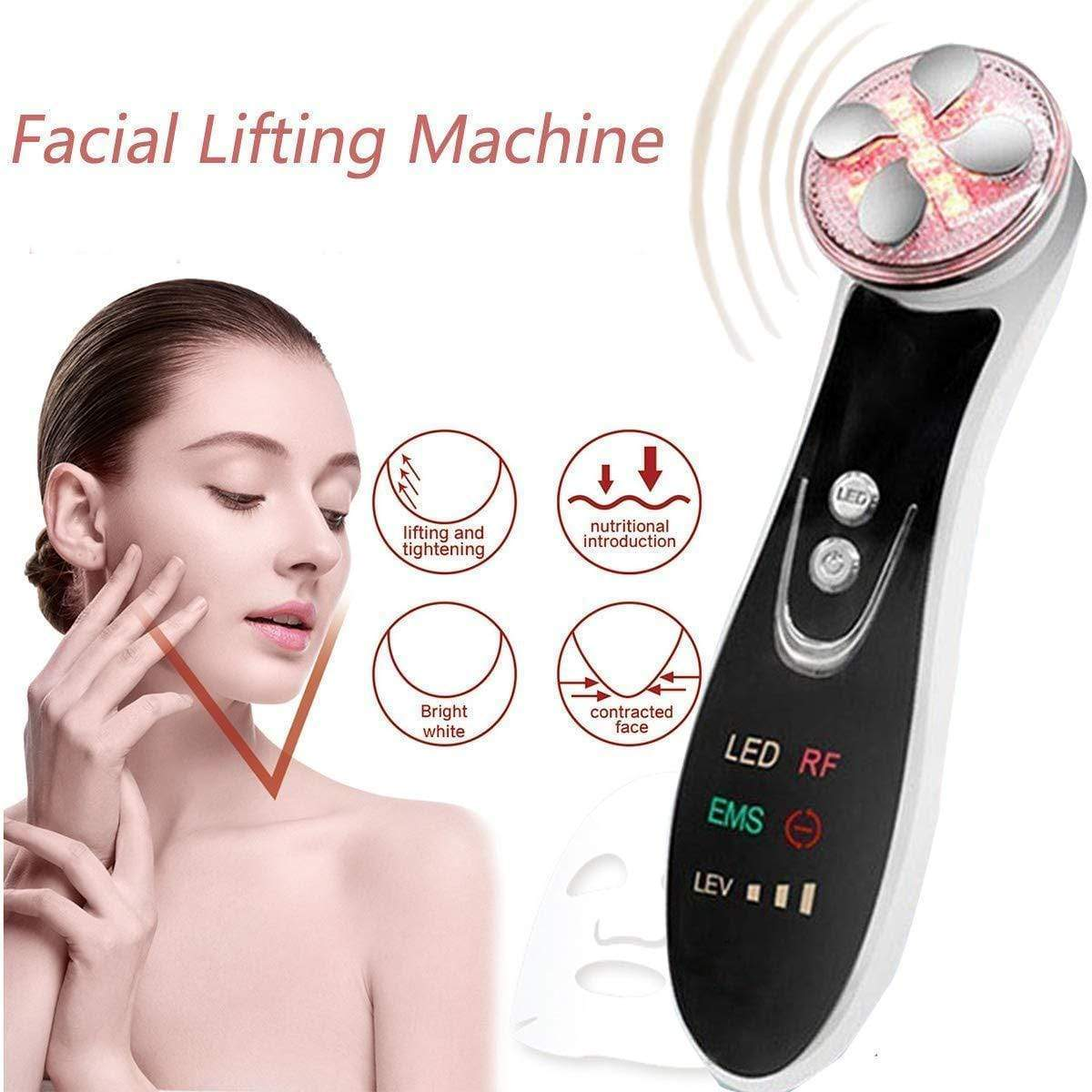 5 In1 RF EMS Radio Frequency LED Photon Skin Lifting Device FIRST CLASS CREW