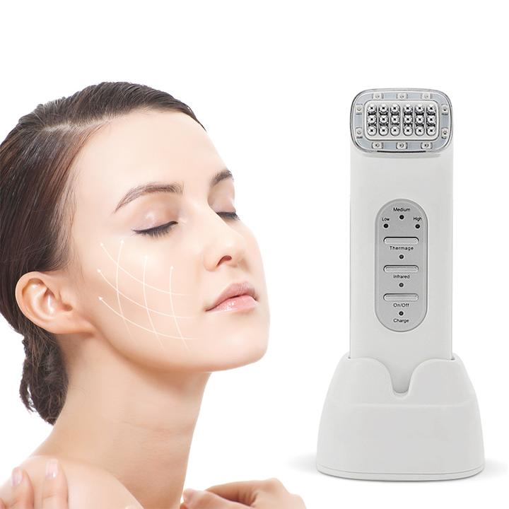 Infrared Thermage Radio Frequency RF Skin Tightening Facial Contouring At Home Device