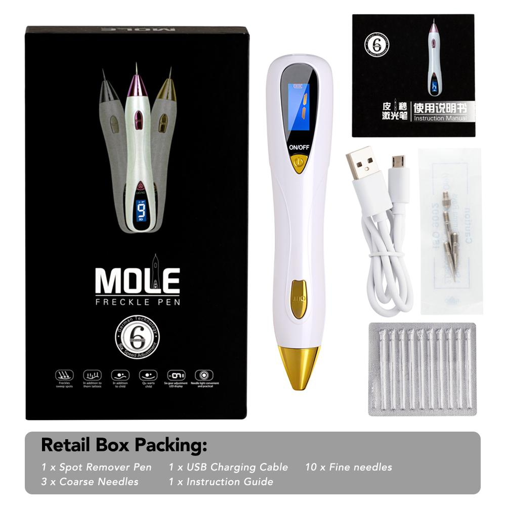 LCD Display Laser Skin Tag Mole Tattoo Removal Pen