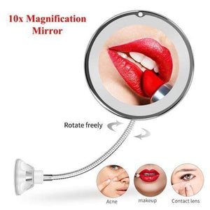 LED Lighted 10X Magnifying Makeup Mirror Portable gooseneck Vanity Mirror FIRST CLASS CREW Style1 10x mirror