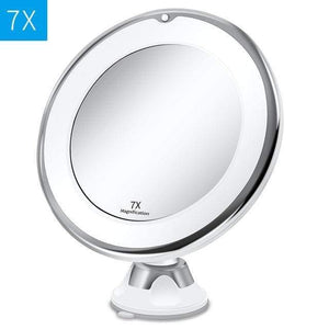 LED Lighted 10X Magnifying Makeup Mirror Portable gooseneck Vanity Mirror FIRST CLASS CREW Style2 7x mirror