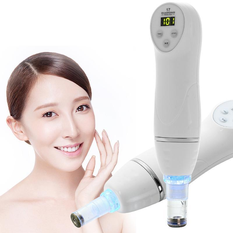 Diamond 17 Potable Microdermabrasion Diamond Blackhead Removal Peeling Device