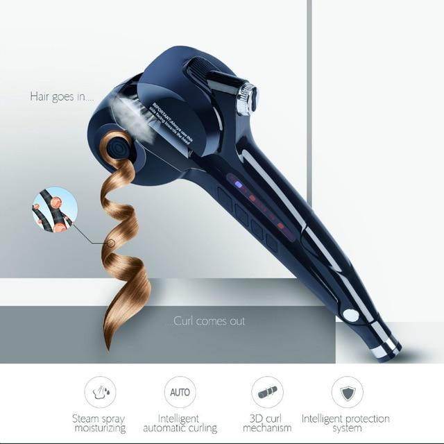 Wet and Dry Use Digital Automatic Curling Iron