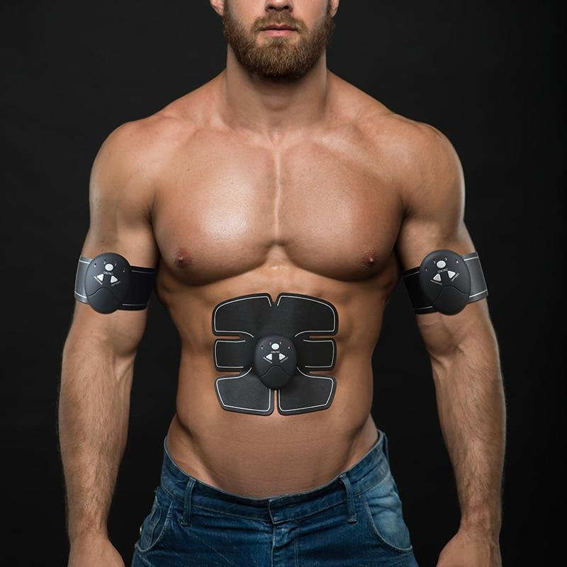 Smart EMS Abdominal Wireless Muscle Trainer Fitness Massage-Black