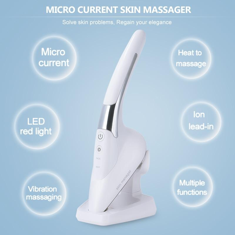 Micro-Current Negative Ion Skin Iron Facial Skin Lifting Vibration Massager