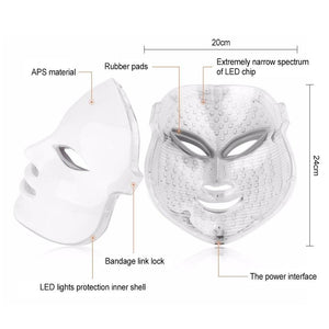 3/7 Colors Light LED Facial Mask Skin PDT Rejuvenation Home Salon Mask