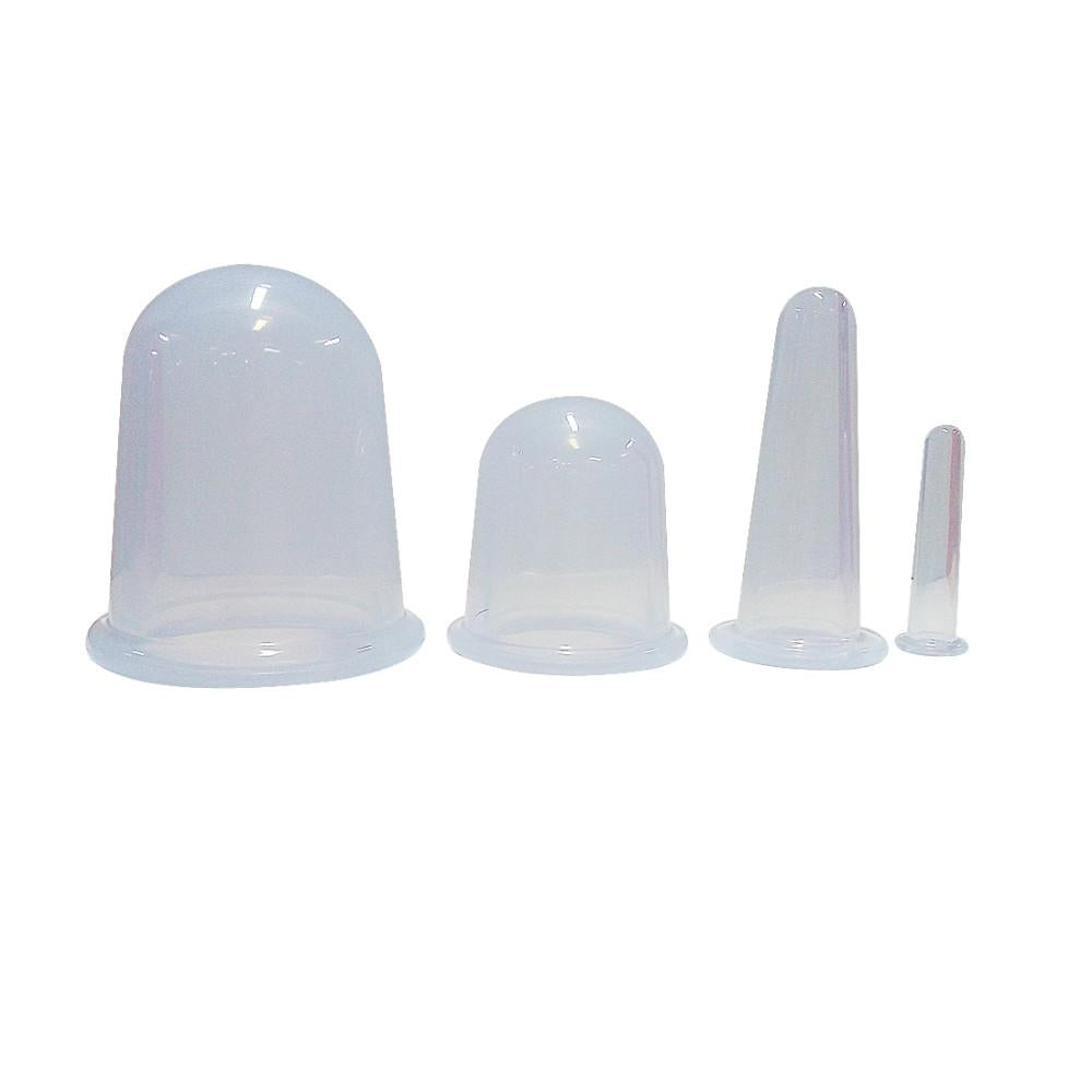 4pcs/set Silicone Anti Cellulite Massage Vacuum Cupping Body Facial Cups