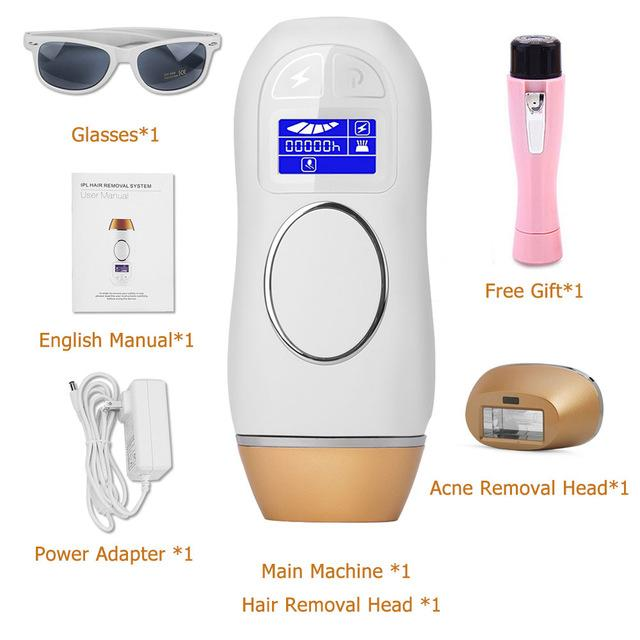 400K Flashes IPL Epilator Permanent Hair Removal Depilador